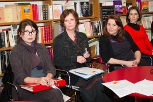 Sophie Manuel, la présidente, entourée des deux vice-présidentes : Céline Noulin et Sandra Le Bricquir.