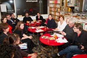 Présentation de Millef'Oeil à la presse, le 21 janvier au Liber'Thés à Blois.