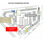 Accès parking Hôtel Ibis Styles Blois
