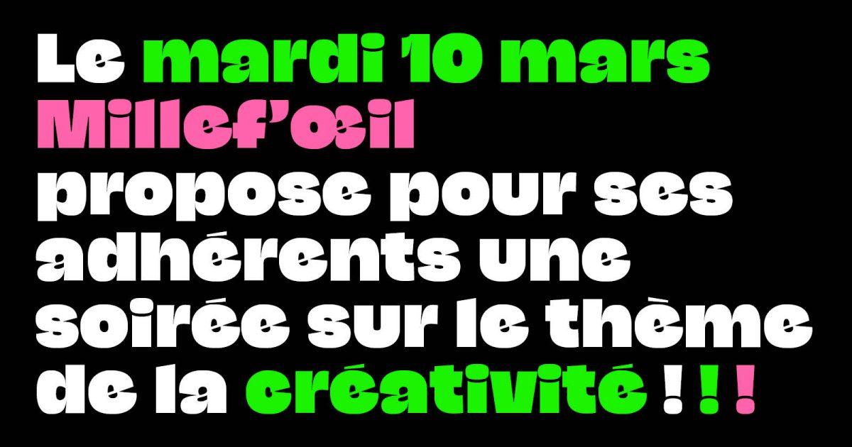 Soirée adhérents n° 1 La créativité